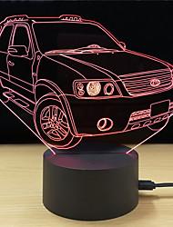 abordables -1set LED Night Light Tactile 7 couleurs Alimenté par Port USB Soulagement de stress et l'anxiété Lumière décorative Avec port USB