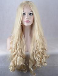 Недорогие -Искусственные волосы парики Естественные волны Парик в афро-американском стиле Лента спереди Знаменитый парик Парики для вечеринки Парик