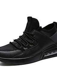 cheap -Men's Light Soles Tulle / PU(Polyurethane) Spring / Fall Comfort Athletic Shoes Running Shoes Color Block White / Black / Black / White