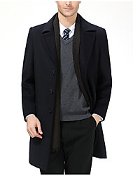 Jednobarevné Jdeme ven Na běžné nošení Kabát-Zima Polyester Do V Dlouhé rukávy Dlouhé Velkoformátové
