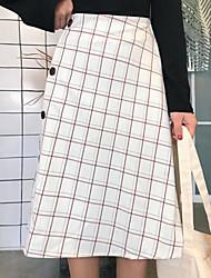 cheap -Women's Street chic Pencil Skirts - Color Block, Split