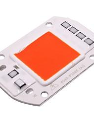 Недорогие -50w вел cob чип красный свет ac 220v - 240v smart ic пригонка для прожектора прожектора водить diy (1 часть)