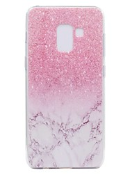 economico -Custodia Per Samsung Galaxy A8 Plus 2018 A8 2018 Transparente Fantasia/disegno Custodia posteriore Effetto marmo Morbido TPU per A3