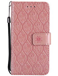 cheap -Case For LG K8 LG LG K10 LG K7 V20 K10 (2017) Card Holder Wallet with Stand Flip Embossed Full Body Cases Flower Hard PU Leather for LG X
