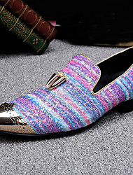 preiswerte -Herrn Schuhe Nappaleder Frühling / Herbst Komfort / formale Schuhe Loafers & Slip-Ons Regenbogen / Party & Festivität