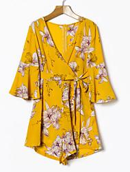 cheap -Women's Blouse - Floral Pant V Neck