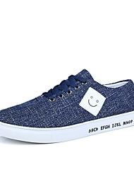 cheap -Men's Light Soles Canvas / Linen / Fabric Spring / Summer Comfort Sneakers Black / Gray / Blue / Party & Evening