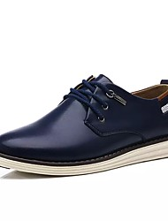 Недорогие -Муж. обувь Лакированная кожа Весна Осень Удобная обувь Баллок обувь Туфли на шнуровке Для прогулок Пуговицы На эластичной ленте для