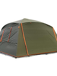 cheap -7 person Single Poled Instant Cabin Camping Tent Outdoor Waterproof, Windproof, Sunscreen for Camping / Hiking 1500-2000 mm Oxford 365*365*220 cm