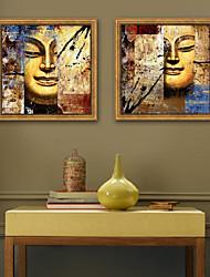 abordables -Abstrait Religieux Illustration Art mural,Plastique Matériel Avec Cadre For Décoration d'intérieur Cadre Art Salle de séjour Intérieur