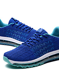 cheap -Men's Light Soles Tulle / PU(Polyurethane) Spring / Summer Comfort Athletic Shoes Running Shoes / Hiking Shoes / Cycling Shoes Color Block Black / Blue / Black / Red / Walking Shoes