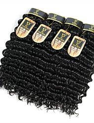 Недорогие -4 Связки Перуанские волосы Крупные кудри Натуральные волосы Человека ткет Волосы Ткет человеческих волос Расширения человеческих волос