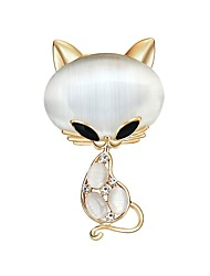 cheap -Women's Opal Opal Brooches - Cartoon / Fashion White Brooch For Ceremony / Holiday