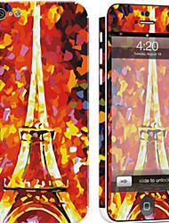Недорогие -1 ед. Наклейки для Защита от царапин Эйфелева башня Узор PVC iPhone 5c