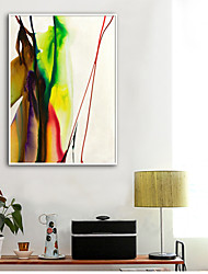cheap -Abstract Illustration Wall Art,Plastic Material With Frame For Home Decoration Frame Art Living Room Indoor
