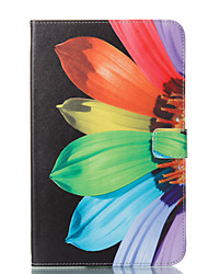 preiswerte -Hülle Für Samsung Galaxy Tab E 9.6 Geldbeutel mit Halterung Flipbare Hülle Muster Automatisches Schlafen/Aufwachen Ganzkörper-Gehäuse