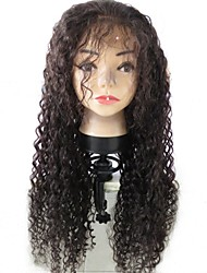 cheap -Unprocessed Virgin Human Hair Human Hair Lace Front Wig Brazilian Hair Curly Kinky Curly With Baby Hair 130% Density Unprocessed 100%