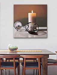 Недорогие -Отпечатки на холсте Винтаж, 1 панель холст Квадратный С картинкой Декор стены Украшение дома