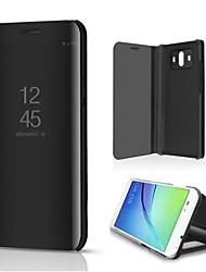 Недорогие -Кейс для Назначение Huawei Mate 10 со стендом Покрытие Зеркальная поверхность Флип Авто Режим сна / Пробуждение Чехол Сплошной цвет