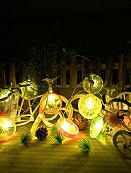 cheap -100cm String Lights 10 LEDs 1M String Light Warm White Linkable 1set