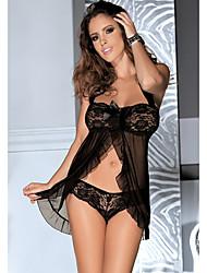 baratos -Mulheres Sexy Super Sensual Roupa de Noite - Renda, Bandagem Jacquard