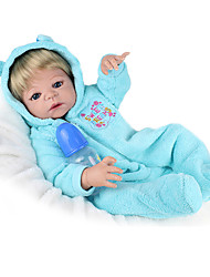 cheap -NPK DOLL Reborn Doll Baby Girl 22 inch Full Body Silicone / Silicone / Vinyl - lifelike, Hand Applied Eyelashes, Tipped and Sealed Nails Kid's Girls' Gift / CE Certified / Natural Skin Tone