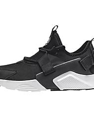 Homens sapatos Malha Respirável Primavera Outono Conforto Tênis Corrida para Atlético Branco Preto Branco/Preto