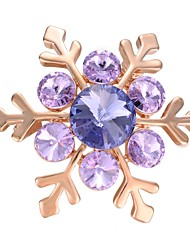 cheap -Women's AAA Cubic Zirconia Brooches - Gold Plated Snowflake Korean, Fashion Brooch Purple For Gift / Evening Party