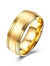preiswerte -Herrn Bandring , Gold Edelstahl Kreisform Modisch Geschenk Alltag Modeschmuck