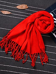 cheap -Imitation Cashmere Wedding / Daily Wear Women's Wrap With Tassel Scarves