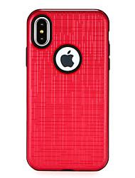 Недорогие -Кейс для Назначение Apple iPhone X iPhone 8 Защита от удара удобный Кейс на заднюю панель Сплошной цвет Твердый ПК для iPhone X iPhone 8