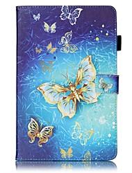 preiswerte -Hülle Für Samsung Galaxy Tab E 9.6 Kreditkartenfächer Geldbeutel mit Halterung Muster Automatisches Schlafen/Aufwachen Ganzkörper-Gehäuse