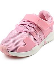 baratos -Para Meninas Para Meninos Sapatos Tule Outono Conforto Tênis Velcro para Casual Ao ar livre Preto Rosa claro
