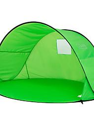 baratos -2 Pessoas Tenda Único Barraca de acampamento Ao ar livre Cabana de Praia Á Prova-de-Chuva / Á Prova-de-Pó / Proteção UV para Acampar e