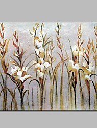 cheap -Oil Painting Hand Painted - Floral / Botanical Classic Canvas