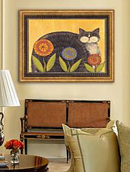 baratos -Animais Floral/Botânico Ilustração Arte de Parede,Plástico Material com frame For Decoração para casa Arte Emoldurada Sala de Estar