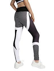 preiswerte -Damen Patchwork Yoga-Hose Sport Blumen / Pflanzen Leggins Laufen, Fitness, Fitnessstudio Sportkleidung Yoga Dehnbar
