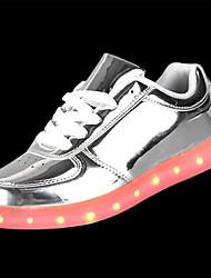 cheap -Men's PU(Polyurethane) Fall / Winter Comfort Sneakers Gold / Silver