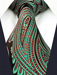Недорогие -Муж. Для офиса Классический Галстук Искусственный шёлк, Контрастных цветов Огурцы Жаккард