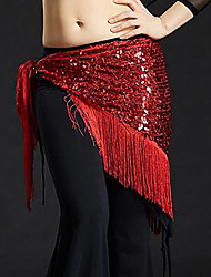 cheap -Belly Dance Ordinary Women's Training Polyester Belt Tassel Hip Scarf