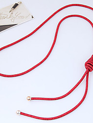 cheap -Women's Y-Necklace  -  Simple European Dark Blue Red Pink Necklace For Daily