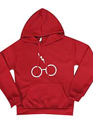 abordables -Sweatshirt Femme Imprimé Col Arrondi non élastique Coton Manches longues Automne