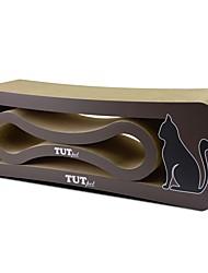 baratos -Gatária Artesanato de Papel Desenho Artístico Luxo Amigo de Animal de Estimação Multi-Côr Tapete de Arranhar Sem Parabenos Arte de Papel