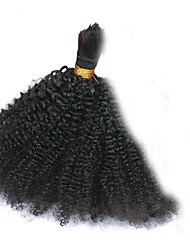 cheap -Brazilian Hair Kinky Curly Unprocessed Human Hair Natural Color Hair Weaves Human Hair Weaves Natural Black