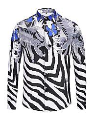 Majica Muškarci - Jednostavan Ulični šik Prugasti uzorak Pamuk
