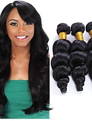 cheap -Brazilian Hair Loose Wave Natural Color Hair Weaves Human Hair Weaves Natural Black Human Hair Extensions