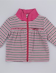 cheap -Girls' Daily Striped Color Block Sweater & Cardigan, Cotton Spring Fall Long Sleeves Cute Active Purple Fuchsia