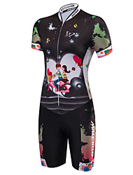 cheap -Malciklo Women's Short Sleeve Triathlon Tri Suit - Black British Bike Anatomic Design, Breathable, Sweat-wicking Polyester / Spandex /