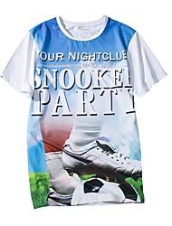 cheap -Men's Sports Simple T-shirt - Portrait, Print Round Neck