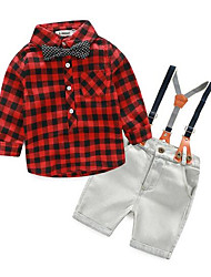 cheap -Toddler Boys' Sports Solid Colored Long Sleeve Cotton Clothing Set
